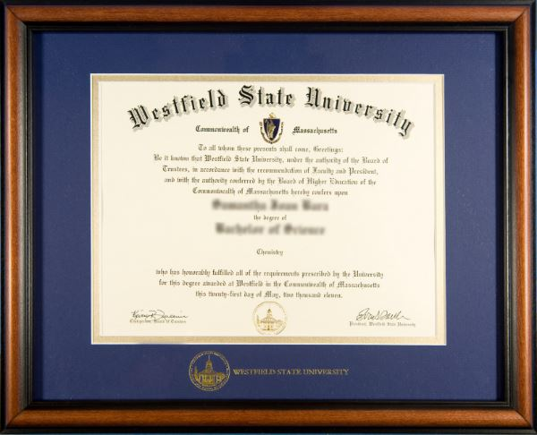 Diploma Frames - Westfield State Alumni